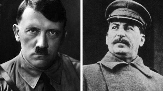 O regime nazi de Hitler foi culpado do genocídio de cerca de 6 milhões de pessoas, enquanto que o comunismo de Estaline foi responsável pela morte de cem milhões de pessoas