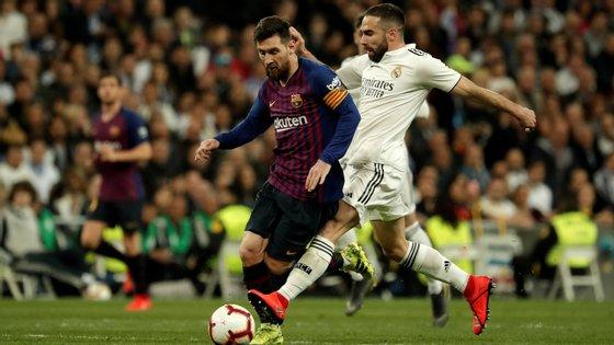 Messi e Carvajal ainda não sabem se se encontram no dia 26 em Camp Nou ou no Santiago Bernabéu ou noutro dia qualquer