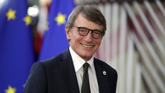 """David Sassoli, presidente do Parlamento Europeu: """"Esta extensão permitirá ao Reino Unido clarificar a sua posição e ao Parlamento Europeu desempenhar o seu papel"""""""