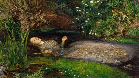 Elizabeth Siddall, mulher do pré-rafaelita Dante Gabriel Rossetti, pousou como Ophelia para John Everett Millais