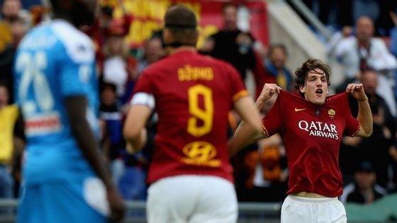 Zaniolo marcou pelo quarto encontro consecutivo, naquele que foi o seu 50.º jogo pela Roma