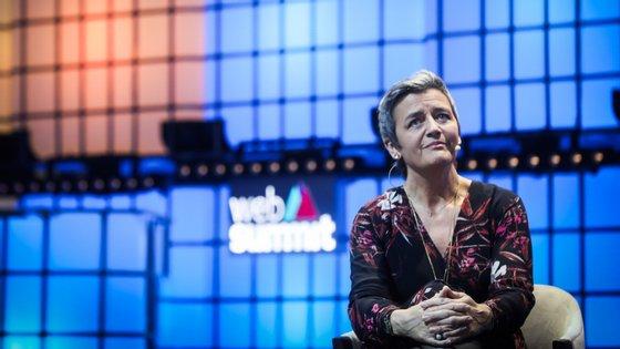 Margrethe Vestager é a comissária europeia para a Concorrência e tem vindo à Web Summit desde 2017