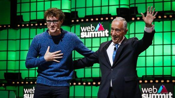 Marcelo Rebelo de Sousa encerrou a Web Summit junto de Paddy Cosgrave, fundador do evento