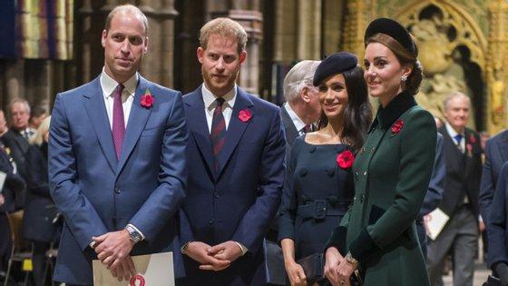 Todos os olhos vão estar em Harry e Meghan que se reúnem com William e Kate este sábado