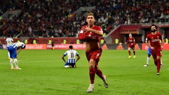 Firmino substituiu Origi aos 85' e demorou pouco mais de cinco minutos para colocar Liverpool na final do Mundial de Clubes