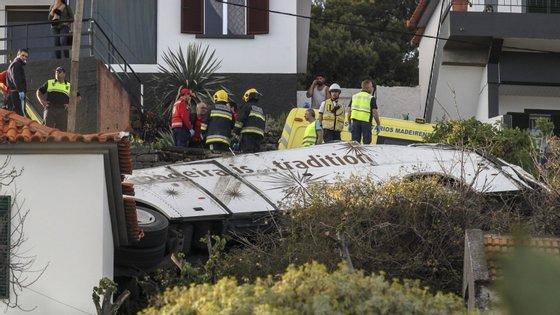 O acidente aconteceu a 17 de abril