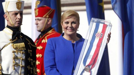 A atual presidente Kolinda Grabar Kitarovic (conservadora), eleita em 2015 e que foi a primeira mulher a assumir a Presidência croata
