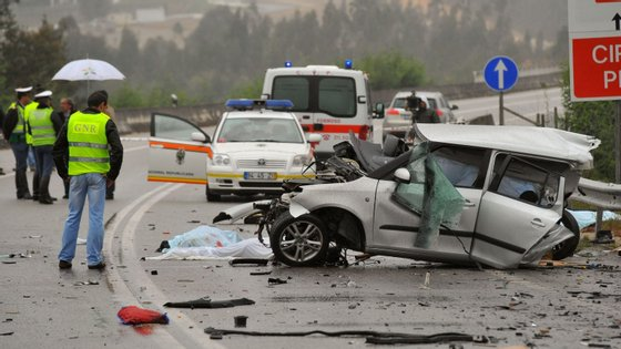 Foram registados 43 acidentes na área de intervenção da GNR, que resultaram em sete feridos ligeiros