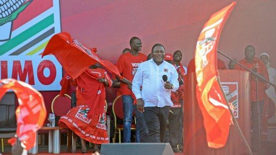 """""""A paz é uma obra que não termina"""", declarou o chefe de Estado moçambicano."""