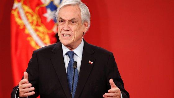 A promulgação da lei para a realização do referendo ocorreu no palácio presidencial de La Moneda