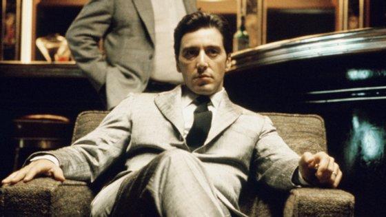Al Pacino durante as gravações do filme 'O Padrinho', de 1972, para o qual recebeu uma nomeação para Óscar de Melhor Ator Secundário