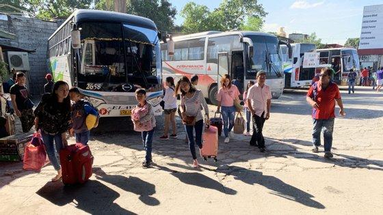 A cidade de Borongon, situada na costa leste da ilha de Samar, deverá ser a mais duramente atingida.