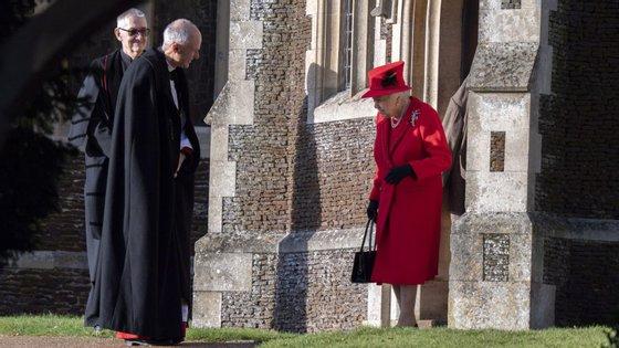 Isabel II celebrou o Natal junto da família, na propriedade de Sandrigham, como é tradição.