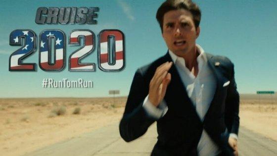 Vídeo de apresentação da candidatura de Tom Cruise é uma paródia do ator Miles Fisher, mas está a correr a internet, outra vez.