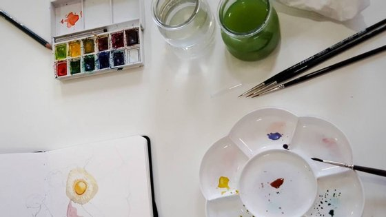 Quatro módulos para se iniciar nos meandros da pintura a aguarela. A partir deste sábado, no Porto ©DR