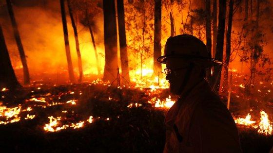 Mais de mil pessoas passaram a noite da passagem de ano na praia em Malua Bay, para se protegerem dos fogos
