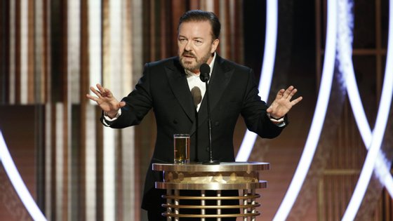 """""""Doem dinheiro para a Austrália, embebedem-se e… desapareçam!"""", disse Ricky Gervais no fim"""