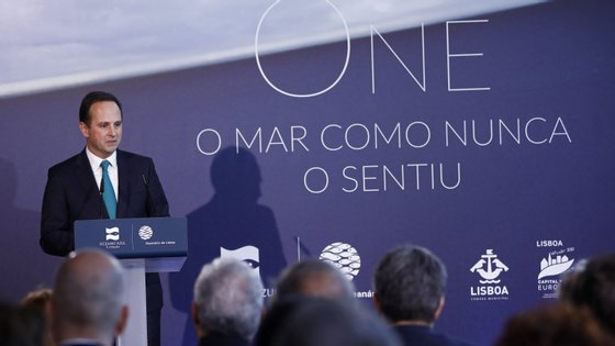 """Medina a cerimónia de inauguração da exposição """"ONE -- O mar como nunca o sentiu"""", que marca o arranque de Lisboa Capital Verde Europeia 2020"""