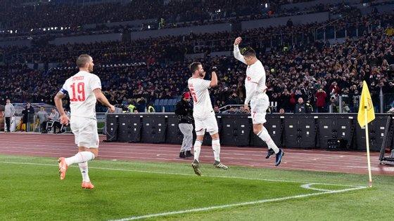 Ronaldo marcou o quarto golo em dois jogos no ano civil de 2020, depois do hat-trick apontado ao Cagliari