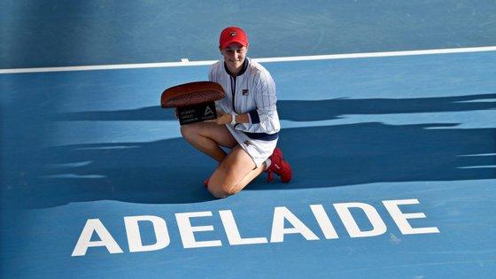 Ashleigh Barty, a australiana de 23 anos, arrebatou o oitavo título da carreira
