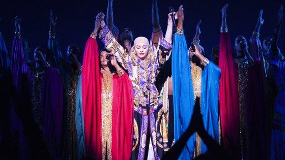 Madonna fotografada no primeiro concerto no Coliseu dos recreios, a 12 de janeiro