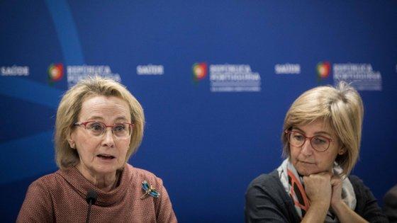 Graça Freitas, Diretora Geral da Saúde, ao lado da ministra que tutela a pasta no atual Governo, Marta Temido