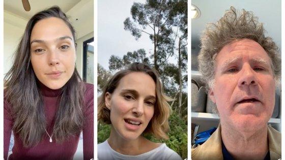Gal Gadot, Natalie Portman e Will Ferrell estão entre as celebridades que entram no vídeo