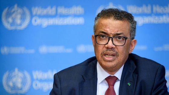 Diretor geral da OMS, Tedros Adhanom, falou esta sexta-feira sobre a evolução da propagação do novo coronavírus