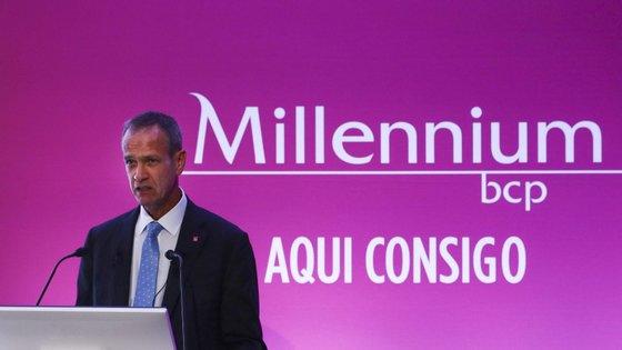 """""""Podem contar connosco"""", diz o presidente do BCP, Miguel Maya."""