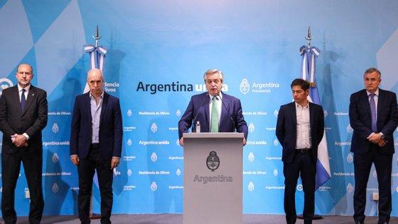 Depois de ter o aval sanitário, Alberto Fernández procurou o consenso político com todos os governadores para estender por mais 11 dias o isolamento total