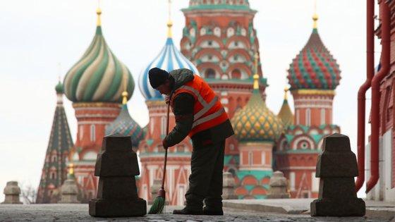 A Rússia está de quarentena até final de abrir