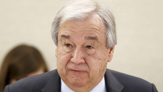 """No seguimento do apelo formal para um cessar-fogo global a 23 de março, Guterres admite e realça de forma prudente que o seu pedido está a """"repercutir-se em todo o mundo"""""""