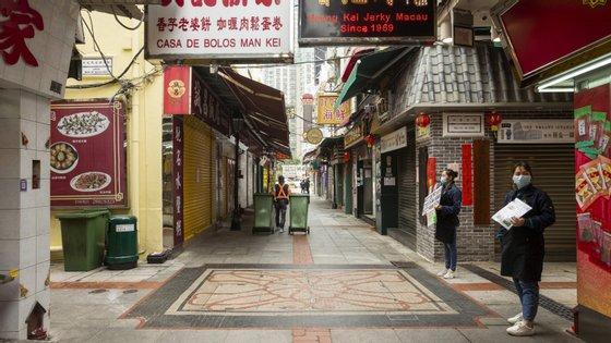 Em fevereiro, Macau registou 10 casos numa primeira vaga de infeções pelo novo coronavírus