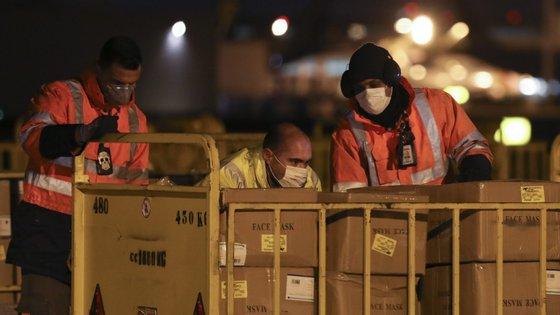 Durante a semana passada aterraram em Portugal dois aviões vindos da China com várias toneladas de equipamentos médicos de proteção