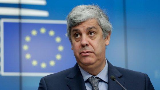 Mário Centeno preside ao eurogrupo, que junta os ministros das finanças da zona euro