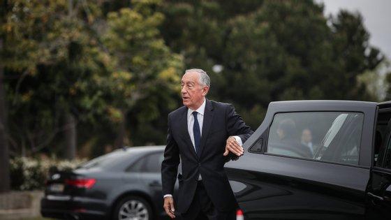 Presidente da República fez este sábado a sua saída semanal a uma sementeira na lezíria do Tejo