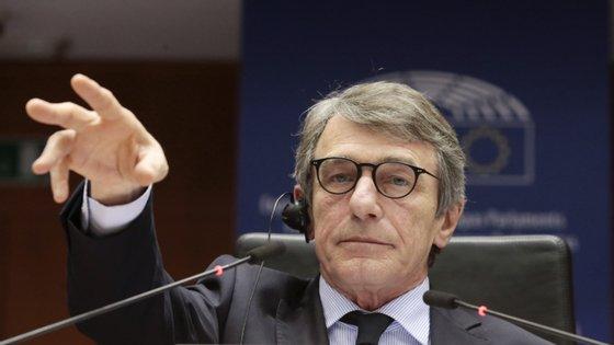 As declarações de Sassoli surgiram horas depois da suspensão dos trabalhos do Eurogrupo