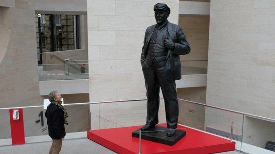 A estátua de Lenine no Deutsches Historisches Museum, em Berlim
