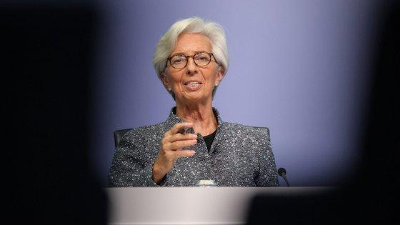 As declarações de Christine Lagarde foram feitas na cimeira dos líderes dos 27 países da União Europeia
