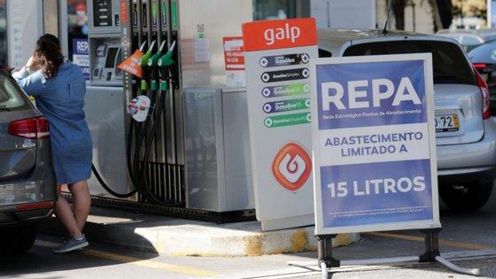 O consumo de combustíveis é muito inferior ao do período pré-Covid.