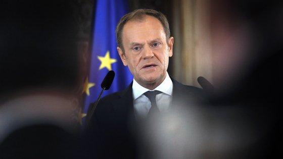 """""""Se todos os polacos honestos disserem: 'isto não são eleições e não participamos', o PiS cederá no último momento"""", declarou Tusk"""