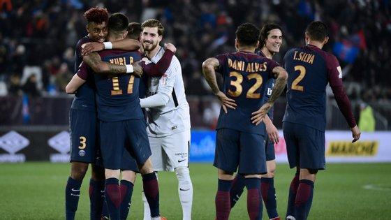 O PSG era quem ocupava o primeiro lugar da Ligue 1