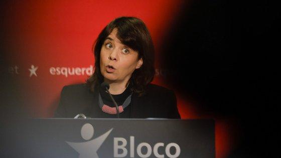 """Catarina Martins fechou a conferência """"Vencer a Crise"""", conduzida online pelo Bloco de Esquerda"""