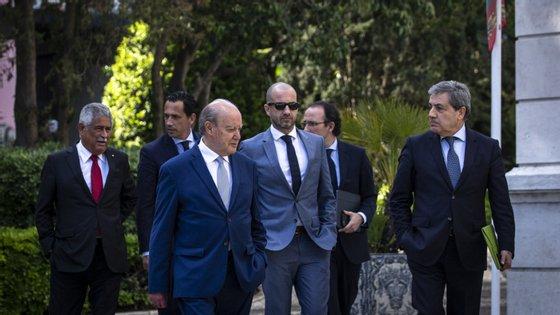 Presidentes dos três grandes, da Federação e da Liga estiveram com António Costa na semana passada em São Bento