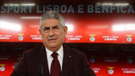 Depois de conversar com os jogadores, o presidente do Benfica deixou uma curta mensagem aos adeptos