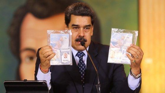 """Segundo o Presidente Nicolás Maduro, a invasão marítima frustrada tinha como """"objetivo central"""" o seu assassínio"""