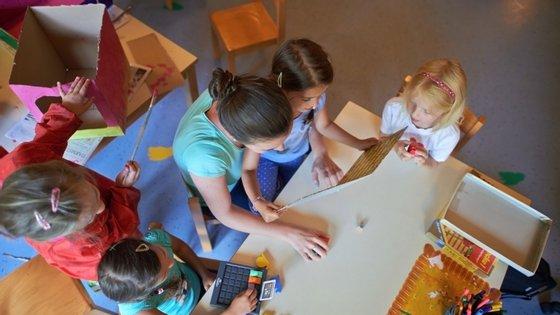 A disposição das mesas e o distanciamento (possível) entre as crianças também serão alvo de regras