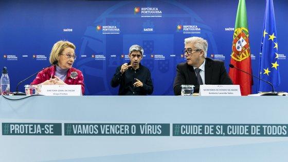 A diretora-geral Graça Freitas e o secretário de Estado António Sales falaram sobre o regresso da Primeira Liga de futebol