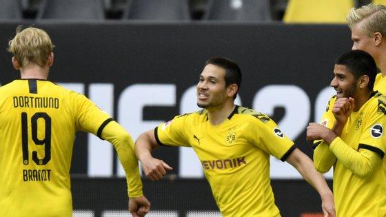 O internacional português marcou dois golos no primeiro jogo depois de dois meses de interrupção do futebol na Alemanha