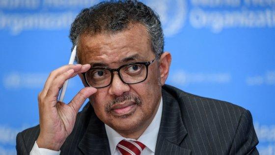 """Tedros Ghebreyesus saudou a resolução que está posta à aprovação dos 194 estados-membros daquela agência das Nações Unidas reunidos virtualmente, em que se propõe uma avaliação """"imparcial, independente e completa"""""""